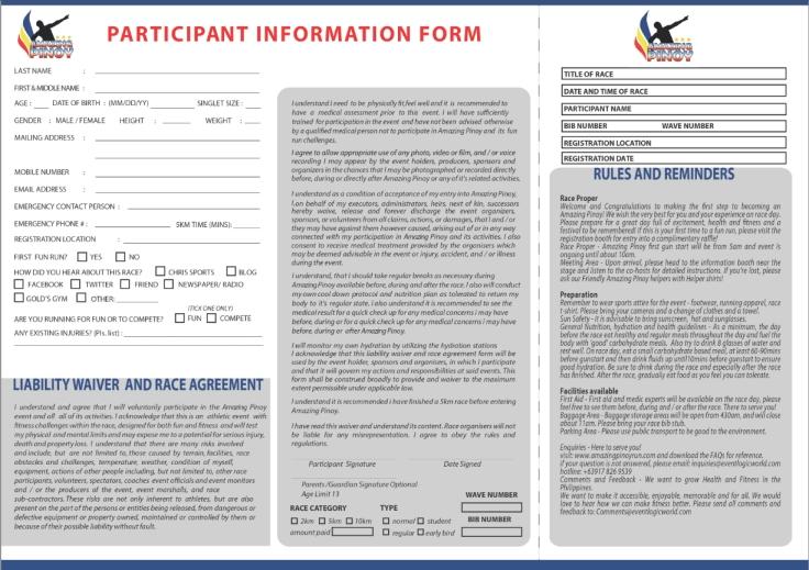 Registration Form - Amazing Pinoy