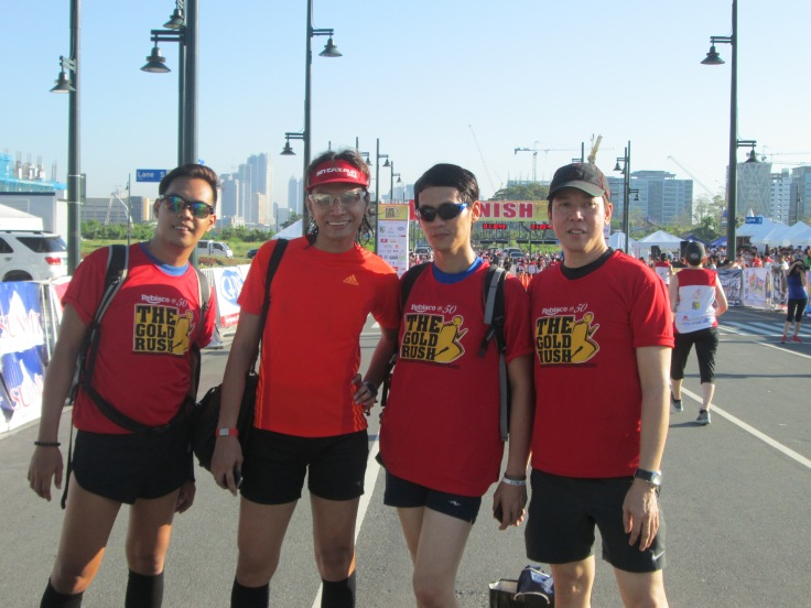 Fab running friends who volunteered in the run.
