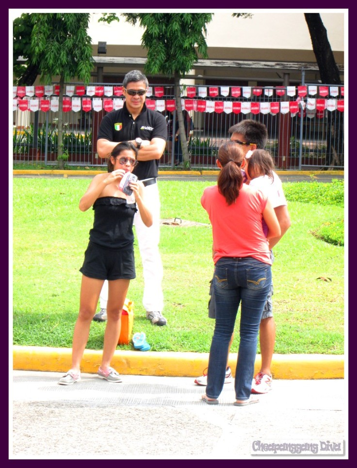 Team Pangilinan enjoying the activities at the Finishline area.