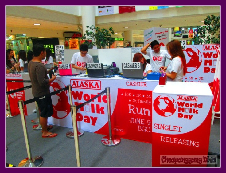 How the registration booth looks like at Glorietta 3 ground level in front of Zara.