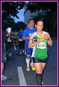 Runners enjoying their food!