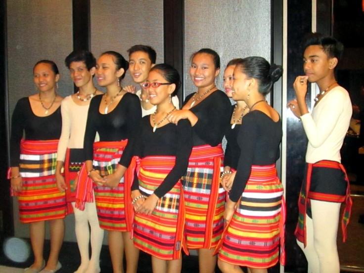 The Verlanie Choir getting ready for their performance.