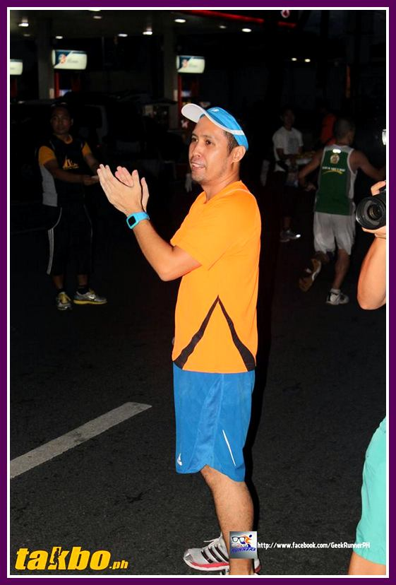Jobert, one of the major movers of this group, did all he can to help motivate the runners. Kudos to you!