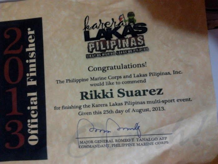 My certificate of attendance!