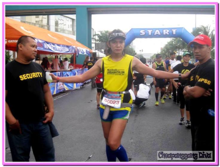 Pasaway sa finish line!