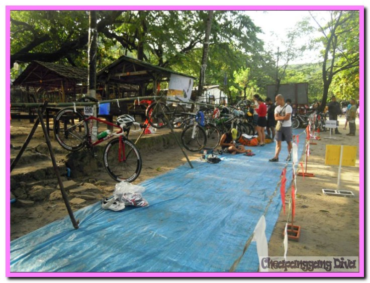 The bike transition area.