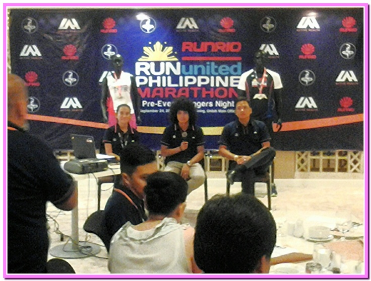 The Run United Team of Coach Rio, Lester Castillo and Bianca Cortez