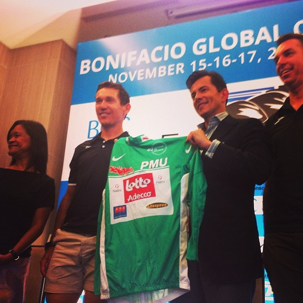 The Green Jersey offered for auction the proceeds of which will be donated to Typhoon Yolanda victims.