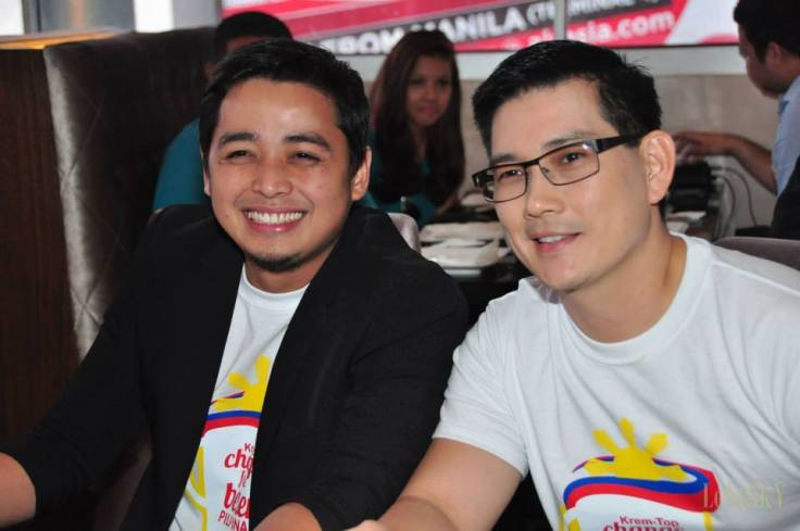 Brand endorsers Papa Jack and Richard Yap