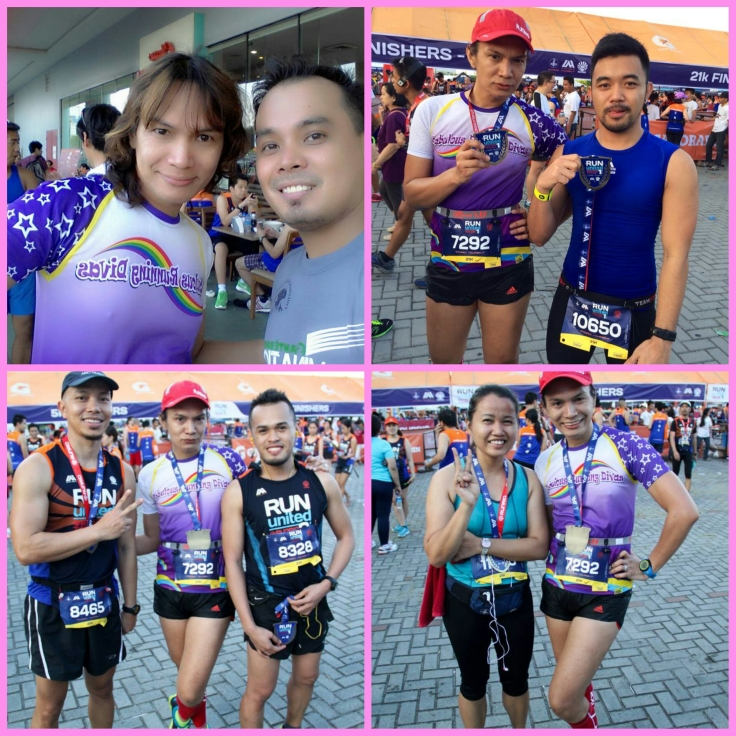 With running friendships. Photos courtesy of Nil Mac, Pinoy Fitness Lems So and Ardiae Ramos.