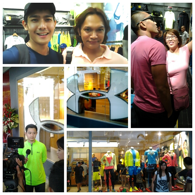 At the opening of Under Armor BHS with celebrities Robbie Domingo and the husband and wife tandem of Gerard Pizarras and Jan Marine.