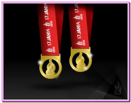2nd CM finisher's medal 5K Blitz1
