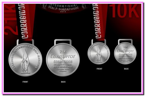 5th CIHM 21K & 10K finisher's medals1