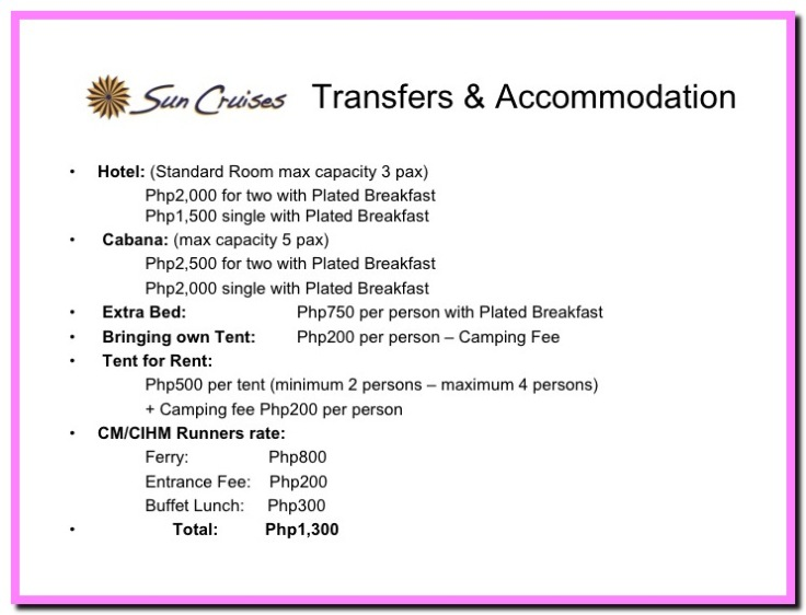 Sun Cruises rates