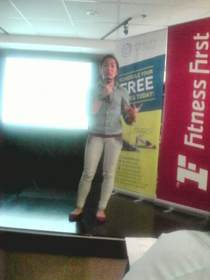 Nutritionist Pia Badua of Fitness First talking on the importance of proper nutrition.