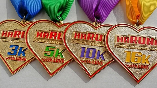 Actual 24Karat Gold Plated Heart Shaped Medals
