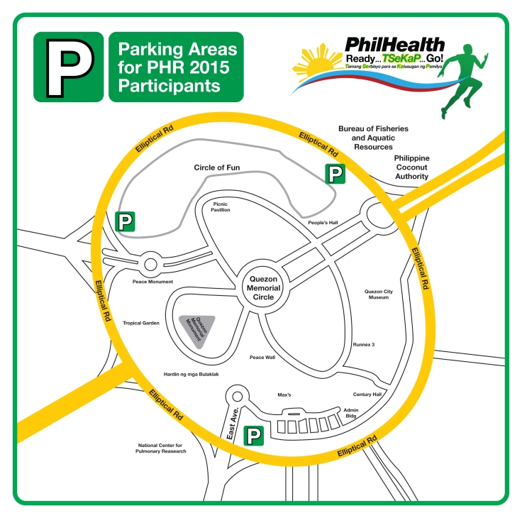 Philhealth Run Parking Areas