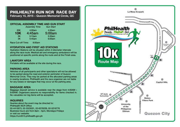 Phlhealth run race info sheet 10K