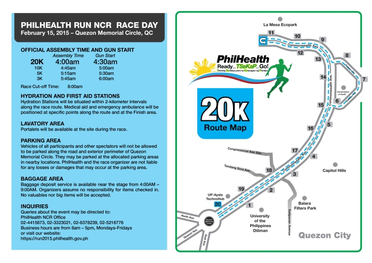 Phlhealth run race info sheet 20K
