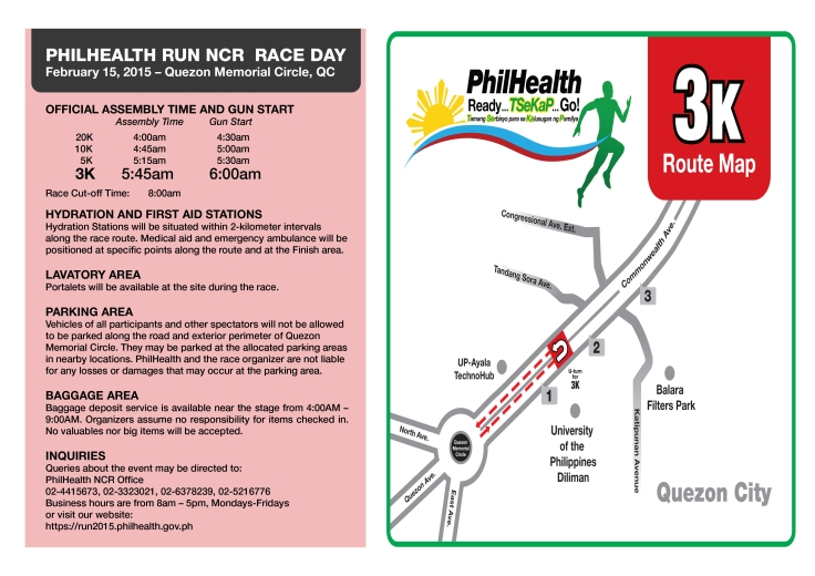 Phlhealth run race info sheet 3K