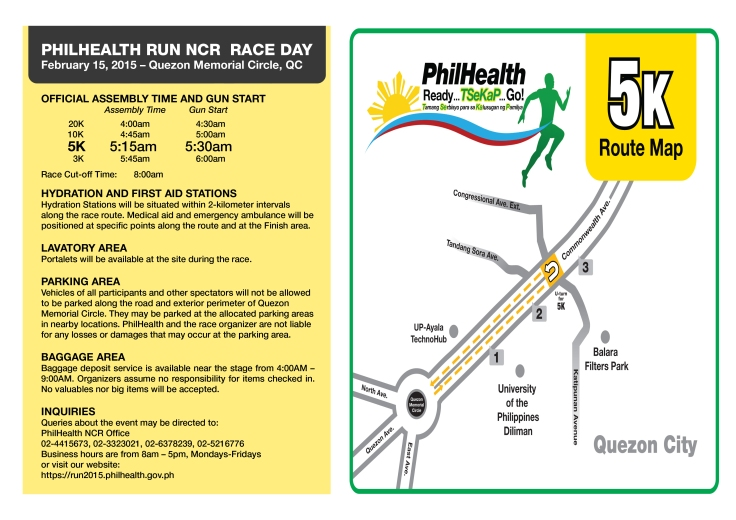 Phlhealth run race info sheet 5K