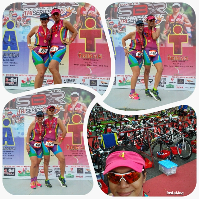 Me and Rose Marie enjoying our moment on the stage after the race.  Thanks Doc Minnie for taking our pix.