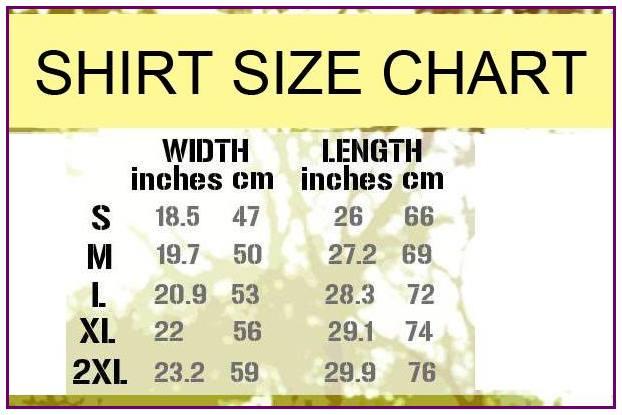 GreatLeanRunsinglet size chart
