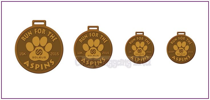 Run For The Aspins Finisher Medals1