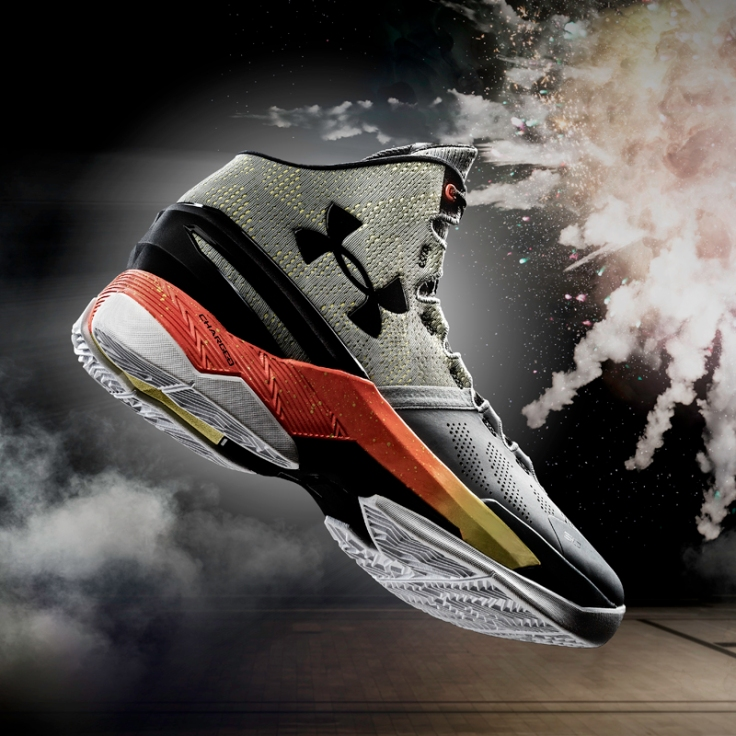 "The ""Iron Sharpens Iron"" Curry Two, the lead  colourway for Stephen's second signature shoe."